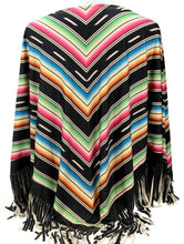Load image into Gallery viewer, Western Multi-Stripe Serape Poncho