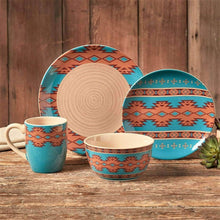"Load image into Gallery viewer, ""Southwest Pottery"" 16-Piece Dinnerware Set"