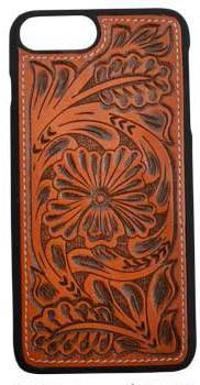 Tan Tooled Snap-On Case for iPhone 8+