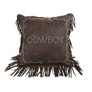 """Calhoun"" Cowboy Studded Accent Pillow"
