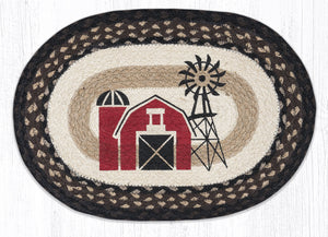 Windmill Farmhouse Oval Braided Placemat