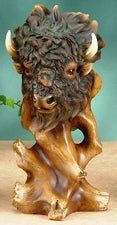 """Buffalo Bust"" Sculpture"