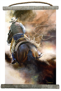 """Roping the Wind"" Canvas Wall Scroll 18"" x 25"""
