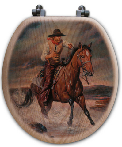 Quot The Crossing Quot Western Toilet Seat Wild West Living
