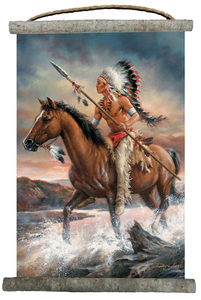 "Legends of the West Canvas Wall Scroll 18"" x 25"""
