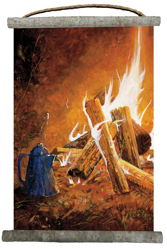 Evening Campfire Canvas Wall Scroll 18