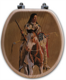 """Ghost of the Plains "" Oak Toilet Seat"