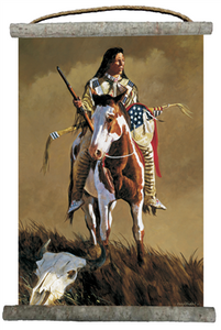 "Ghost of the Plains Canvas Wall Scroll 18"" x 25"""