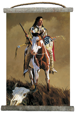 Ghost of the Plains Canvas Wall Scroll 18