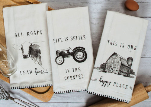 Farmers Market Flour Sack Towels - Choose from 3 Styles!