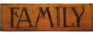 """FAMILY"" Wall Plaque"