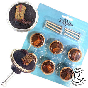 Cowboy Boot Cabinet Knobs - 6 Piece Set