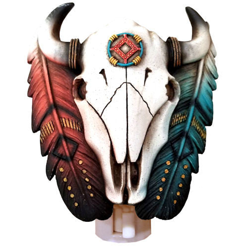 Cowskull with Feather Night Light