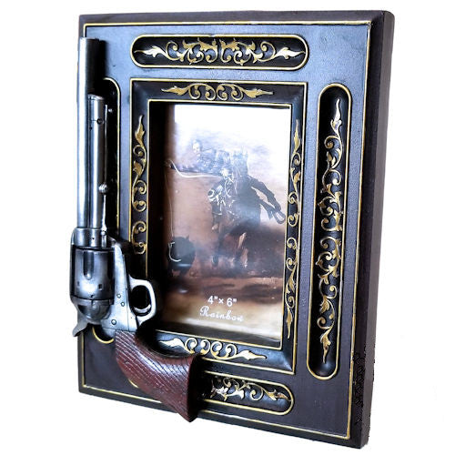 Revolver Photo Frame with Gold Pattern - 4