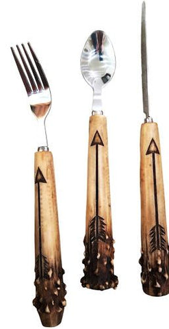 Antler with Arrow 4-Piece Stainless Flatware Set