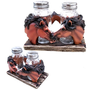 Double Horse Salt & Pepper Shaker Set