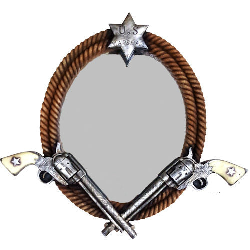Western Double Gun Wall Mirror