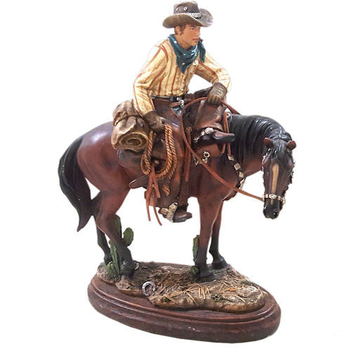 Cowboy on Horse Figurine