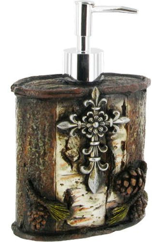 Cross with Pinecone Soap/Lotion Dispenser
