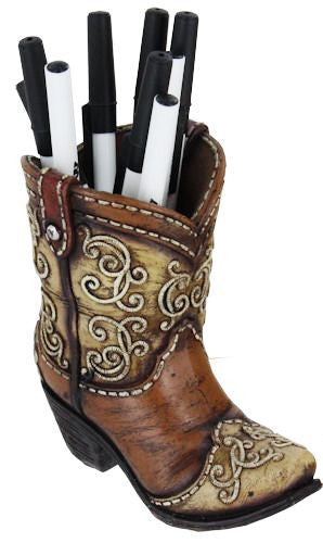 Cowboy Boot Pen Holder