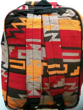 "Load image into Gallery viewer, Southwestern ""Santa Fe"" Style Backpack Red"