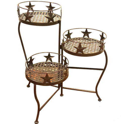 Star 3-Tier Metal Plant Stand