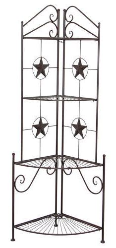 Texas Stars Western Metal Corner Shelf