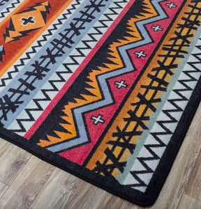 """Captain - Pumpkin Spice"" Southwestern Area Rugs - Choose from 6 Sizes!"