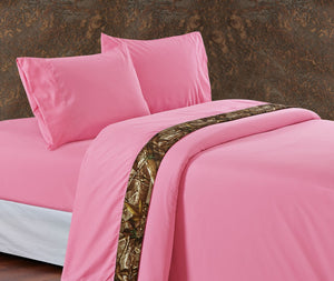 Pink Oak Timber Camo Sheet Set