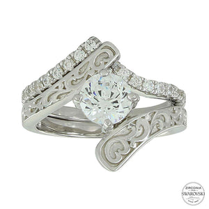 Sterling Lane Destiny Engagement Ring & Wedding Band Set