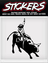 "Load image into Gallery viewer, Bullrider Sticker - 5"" x 6"""