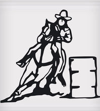 "Load image into Gallery viewer, Barrel Racer Sticker - 5"" x 5"""