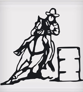 "Barrel Racer Sticker - 5"" x 5"""