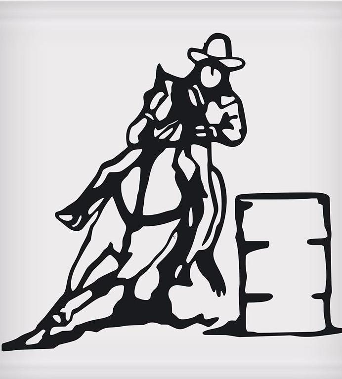Barrel Racer Sticker - 5
