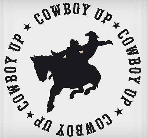 Cowboy Up Sticker - 5-1/2