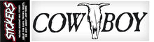 "Load image into Gallery viewer, Cowboy Skull Sticker - 8"" x 2-1/2"""