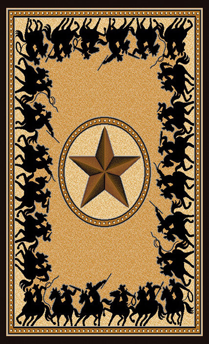 Lone Star Riders Berber Rug Collection - 4 Sizes to Choose From!