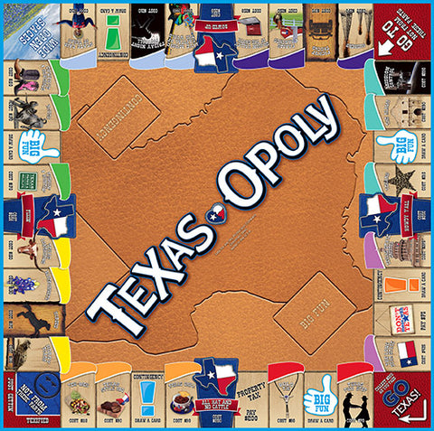 Texas-opoly Western Board Game