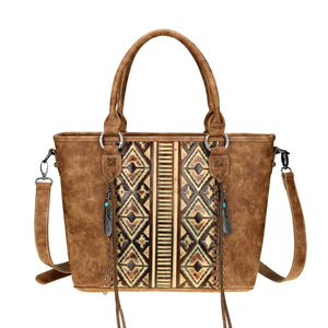 Western Embossed Concealed Carry Tote/Crossbody - Choose from 2 Colors!