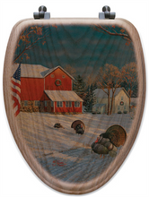 "Load image into Gallery viewer, ""The Good Old Barn"" Oak Toilet Seat"