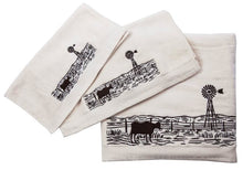 "Load image into Gallery viewer, ""Windmill Landscape"" 3-Piece Bath Towel Set - Choose from 2 Colors!"