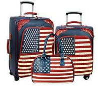 American Pride  3-PC Luggage Set - Navy
