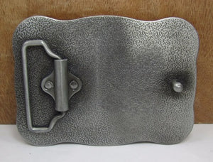 """Cowboy Up"" Metal Belt Buckle"