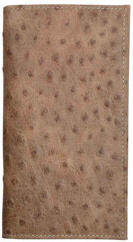 Brown Barnyard Ostrich Rodeo Wallet
