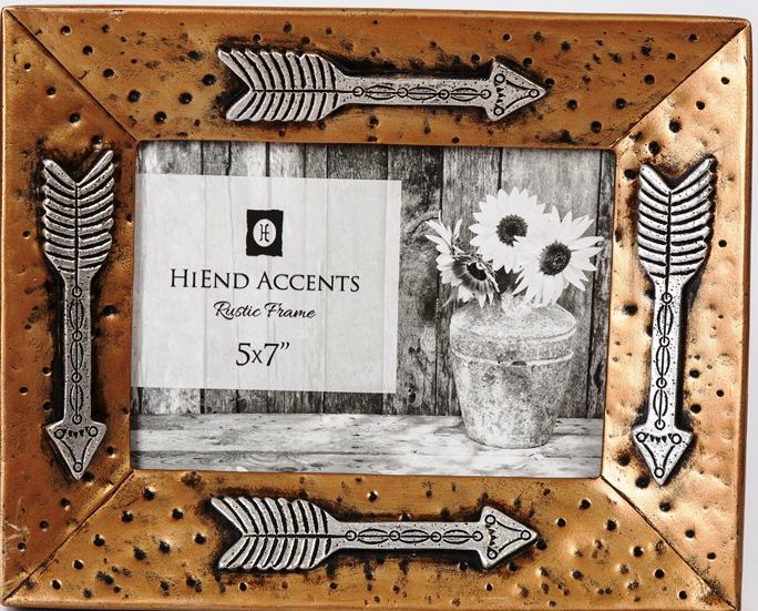 Western Gold Picture Frame with Silver Arrows
