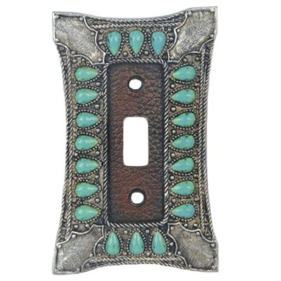 Turquoise Single Switch Cover Plate