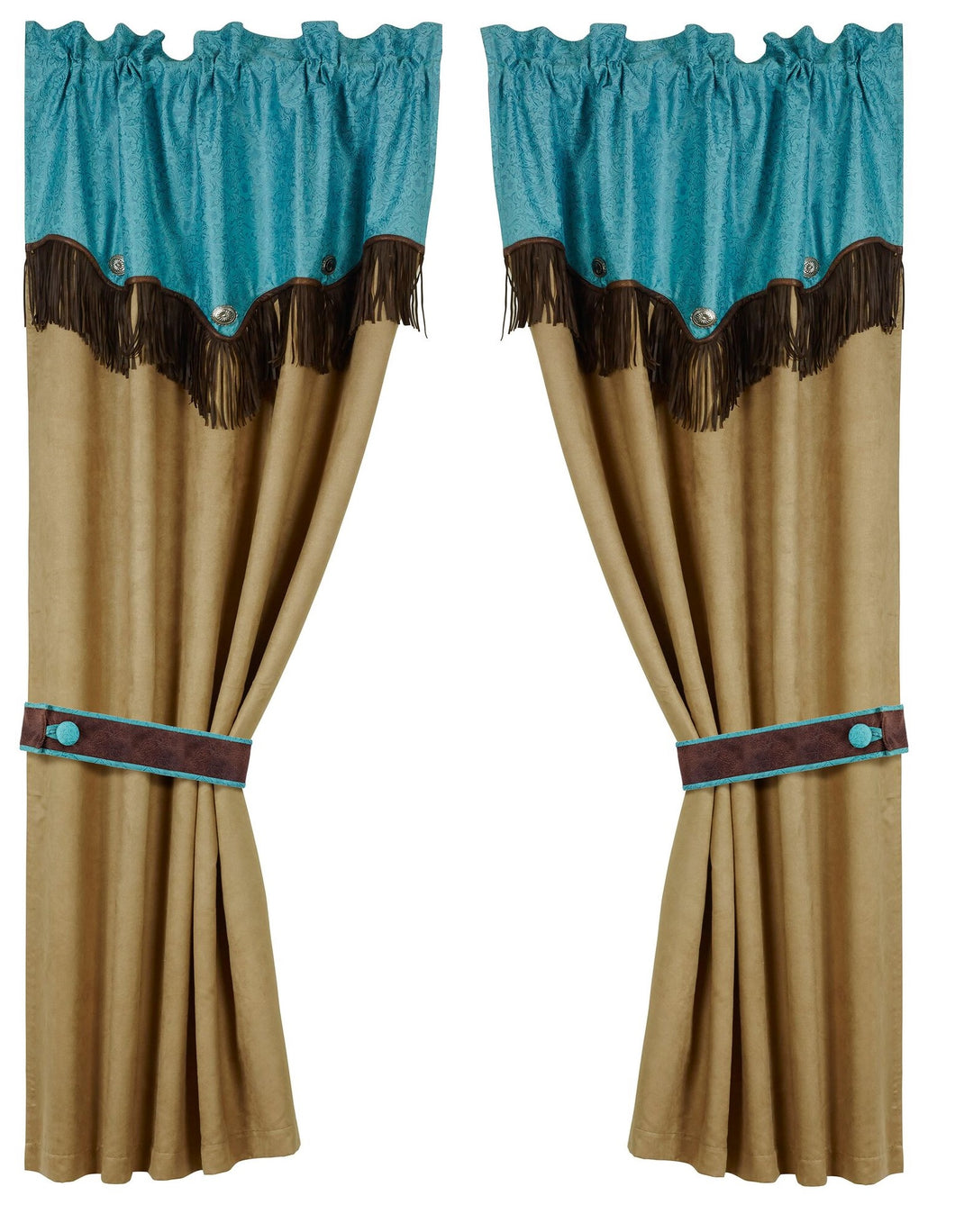 Odessa Western Turquoise Curtains