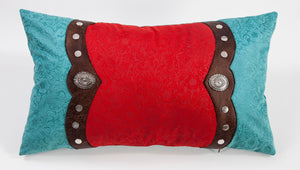 Odessa Western Oblong Pillow with Conchos