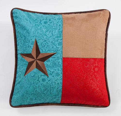 Odessa Western Square Pillow with Texas Star