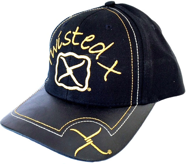 Twisted X Hunter - Black & Gold Embroidered Cap